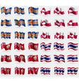 Aland Greenland Bermuda Thailand Set of 36 flags vector image vector image