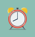 Alarm clock in flat style vector image vector image