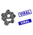 ameba mosaic and distress rectangle viral vector image vector image