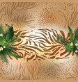 animal skin and leaves vector image vector image