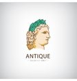 antique greek head logo icon isolated vector image vector image
