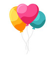 balloons with heart vector image