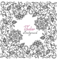 black and white floral pattern vector image vector image
