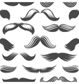 Black and white moustaches seamless pattern vector image vector image