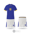 brazil team uniform vector image vector image