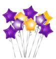 bunch star shape balloons vector image