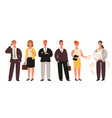 business people set standing businessmen and vector image