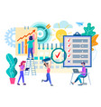 business planning in the office teamwork vector image vector image