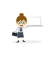 business presentation cartoon character vector image