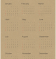 calendar 2015 on paper recycled vector image