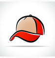 cap design on white background vector image vector image