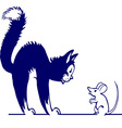 cat vs mouse vector image vector image