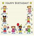 children birthday vector image vector image