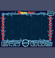 christmas slot game ui interface and buttons in vector image vector image