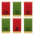 christmas wall hangings vector image vector image