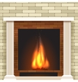 Classic fireplace icon vector image