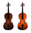 classical acoustic violins on black background vector image vector image