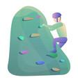 climber helmet wall climbing icon cartoon style vector image vector image