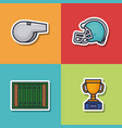 colorful american football icon vector image vector image