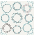 Colorful Hand Sketched Rustic Frames Borders vector image vector image