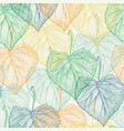colorful leaf seamless pattern vector image vector image