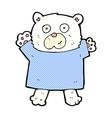 comic cartoon cute polar bear vector image