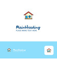 creative home logo design flat color logo place vector image