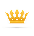 crown king isolated on white background gold vector image vector image
