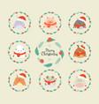 cute christmas forest animals wildlife cartoon vector image vector image