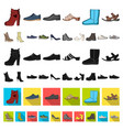 different shoes cartoon icons in set collection vector image vector image