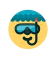 Diving Mask flat icon with long shadow vector image vector image
