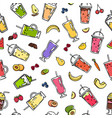 doodle smoothie pattern or background vector image