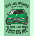 drift carworld league racing vector image vector image