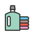drycleaning clothes vector image