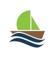 flat icon on white background boat sailboat vector image vector image