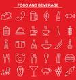 food and beverage linear icon style vector image