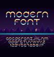 futuristic font vector image vector image