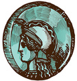 greek old coin vector image vector image