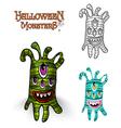 Halloween monsters spooky creature EPS10 file vector image vector image
