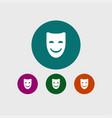 happy mask icon simple vector image vector image