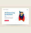 hr outsourcing company website template super vector image vector image