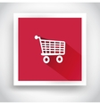 Icon of shopping cart for mobile applications vector image