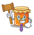 judge jam mascot cartoon style vector image vector image