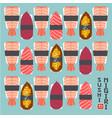 logo nigiri sushi shrimps fish japanese set vector image vector image