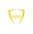 logo shield vector image