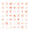 long icons vector image vector image