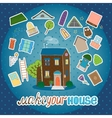Make Your House - night version vector image vector image