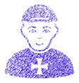 maltese cross awarded man icon grunge watermark vector image vector image
