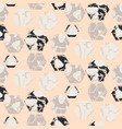 marble stone hexagons seamless pale pink vector image vector image