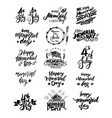 memorial day lettering set vector image vector image